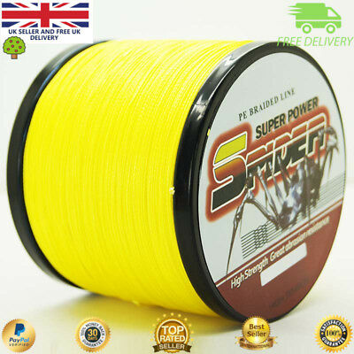 Super 300-1000M 30-50LB Fishing Braid Carp Line Banana Yellow Spod Marker