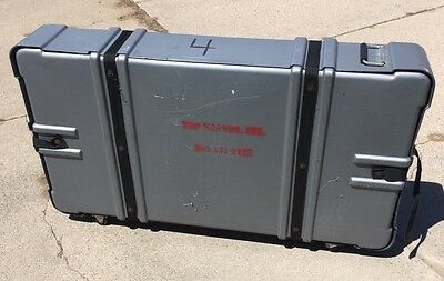 "Large Expandable Wheeled Shipping Storage Case Container..50"" X 25"" X 7-14"" Deep"