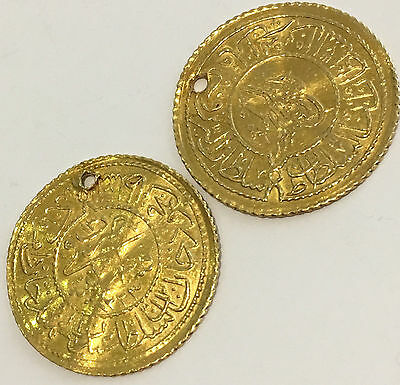 Lot of (2) Turkish Gold Coins 22k Rumi Altin Total of 4.8 Grams