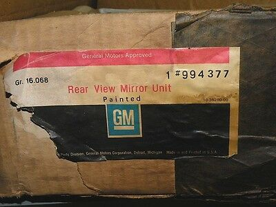 1973-87 Chevrolet Chevy Gmc Ck10-30 Painted West Coast Mirror Kit 994377 Nos Gm