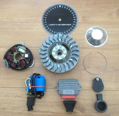 Lambretta Li Electronic Kit. 12 Volt. Lightweight Flywheel Stator . Short Fin.