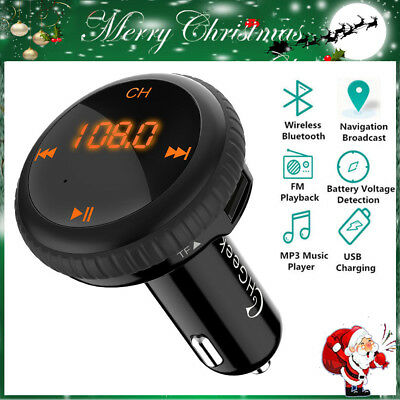 Car FM Transmitter Bluetooth Hands-free MP3 LCD Player Radio Adapter Kit Charger