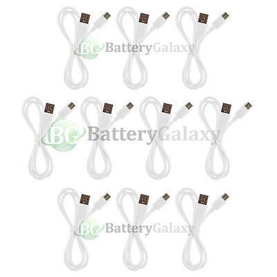 10 USB White Type C Battery Charger Data Sync Cable Cord for Android Cell Phone