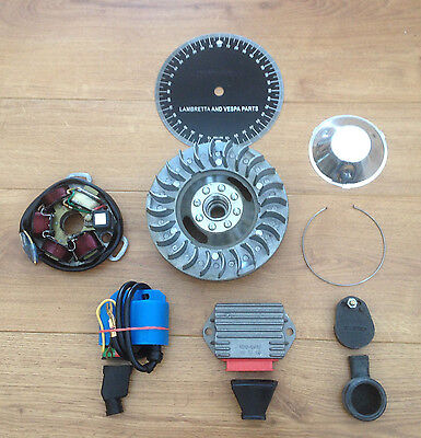 Lambretta Li Electronic Kit. 12 Volt. Standard Flywheel. Short Fin.& Parts
