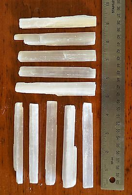 "CL: 10 4-5"" Selenite Wands Sticks Wholesale Healing Crystal Specimen"