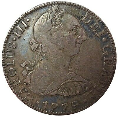 1779 Mo Ff Silver Mexico 8 Reales Charles Iii Coin Mexico City Mint