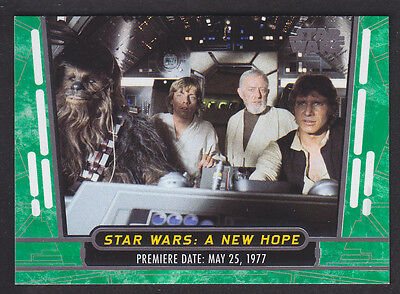 Topps Star Wars - 40th Anniversary - Green Parallel Set of 100 Cards