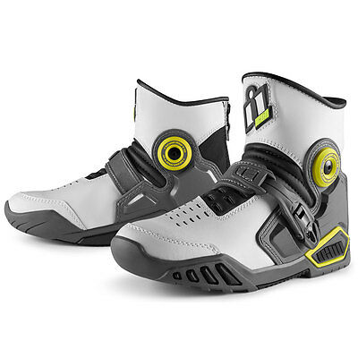 Icon Accelerant Boots Street White ALL SIZES 8-14 US Mens