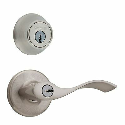 Kwikset 690BL 15 CP K6 Balboa Keyed Entry Lever and Dead Bolt in Satin Nickel