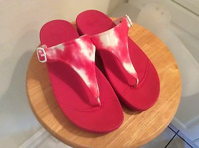 45e36ca0348362 FITFLOP SUPERJELLY WOMEN S Sandals Flame Size 8 LN -  44.99