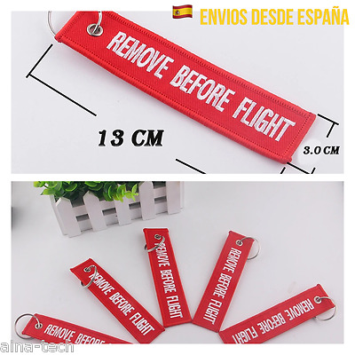 Llavero REMOVE BEFORE FLIGHT Avión Maletas Mochilas Llaves