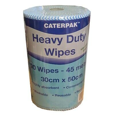 1 Roll 30X50cm Bastion Regular & Heavy Duty Wipes 45m Roll 90 Pieces Sheets Roll