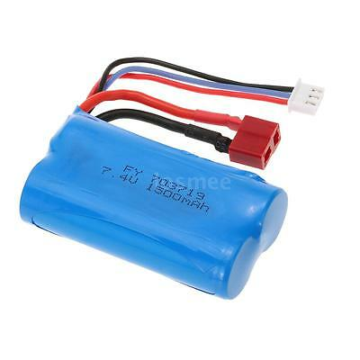 7.4V 1500mAh Battery with T Plug for FEIYUE FY-03 Wltoys 12428 RC Car S2Y3