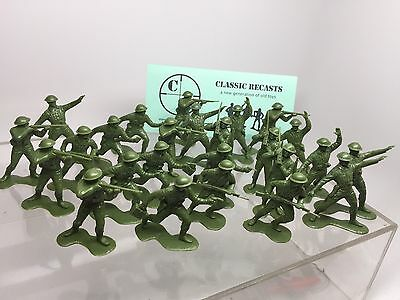 marx WWII British Soldiers,  1/32 scale 54mm recast. Set Of 25