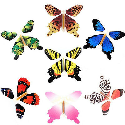 Magic Colorful Flying Butterfly Change From Empty Hands Tricks Prop Toy Hot 5Pcs