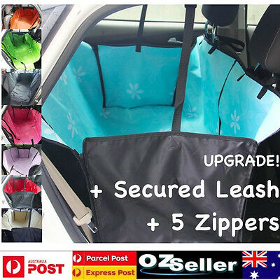 DOUBLE Layers Waterproof Pet Car Seat Cover Dog Hammock Protector Back Mat