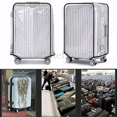20''22''24''26''28''30'' Transparent Travel Luggage PVC Protector Suitcase Cover