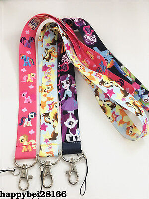 Cute My Little Pony Anime Neck Strap Lanyard Mobile Keys ID Keychain 3 styles