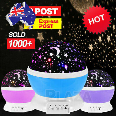 LED Night Sky Star Moon Starry Projector LED Fairy Light Lamp Kids Baby Bedroom