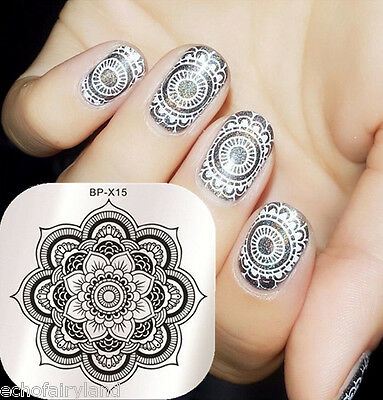 Nail Art Stamp Template Image Stamping Plates Floral Design Born Pretty BP-X15