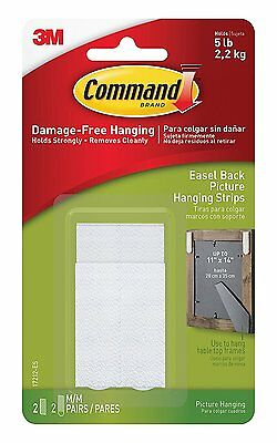 COMMAND 17212 Easel Back Picture/Frame Hanging Strips Pk2. Holds up to 2.2Kg/5lb