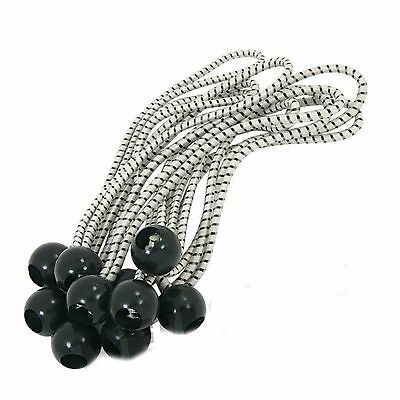 "Neilsen 10 Piece Bungee Cords With Black Ball End 5mm x 8""  11B"