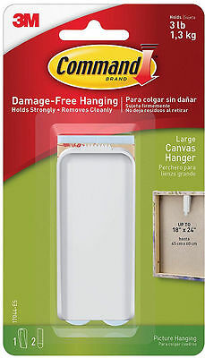 COMMAND 17044-ES Self Adhesive Canvas Hanger LARGE -Strong,Holds up to 1.3Kg/3lb