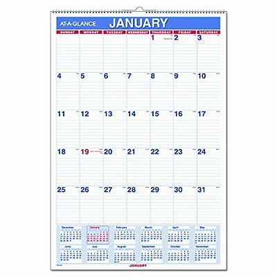 """AT-A-GLANCE Wall Electronics Features Calendar 2017, Monthly, 15-1/2 22-3/4"""","""