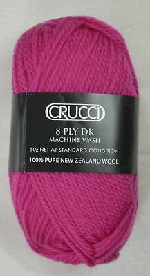 Crucci 8 Ply DK Knitting Yarn 100% Pure New Zealand Wool, 50g Ball, #40 THISTLE