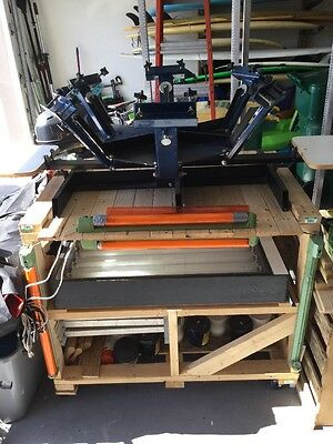 6 color 2 Station screen printing press Package