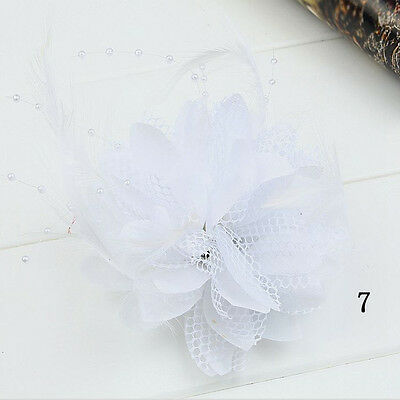 Fascinator Party Bridal Flower Corsage Hairband Feather Accessories Hair Clips