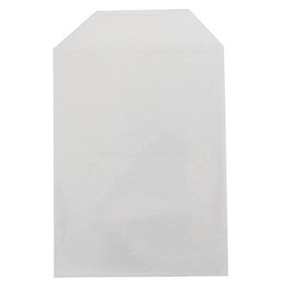 200 Clear DVD Cases CPP Plastic DVD Sleeves with Flap for 14mm DVD Box Awork