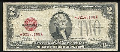 Fr. 1505* 1928-D $2 Two Dollars *star* Legal Tender United States Note