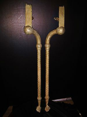 Antique Victorian Twist Nickel Brass Claw Foot Marble SINK LEGS Support Bathroom