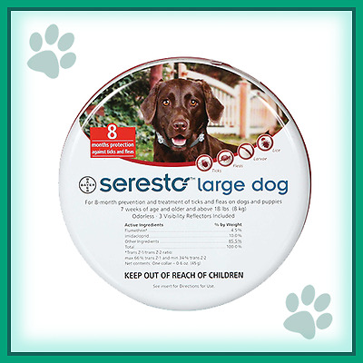 SERESTO/FORESTO flea&tick collar for LARGE DOGS over 18lbs (8kg)