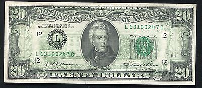 """1981 $20 Frn Federal Reserve Note """"Full Back To Face Offset Printing Error"""""""