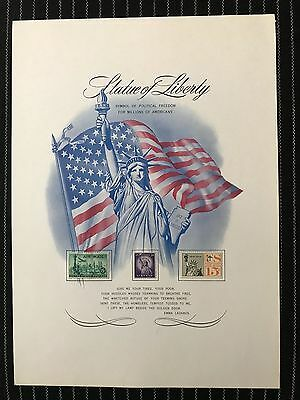 Statue of Liberty Poster with Stamps