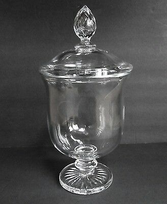 """Large Signed Baccarat French Crystal Covered Urn 13"""" by 6.5"""""""