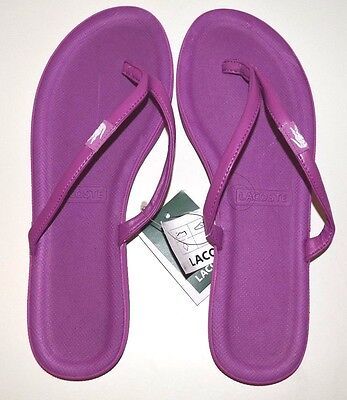 88561a66f Lacoste Flip Flops   Sandals US Size 8 Purple   Wht - FREE SHIPPING - BRAND
