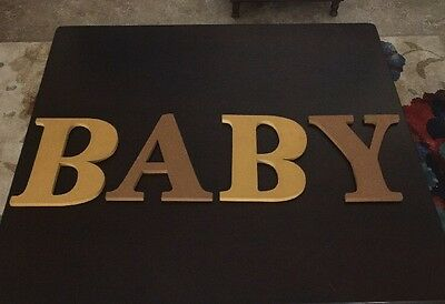 BABY wall Letters For Baby's Room. 8 Inches Tall. FAST Priority Shipping