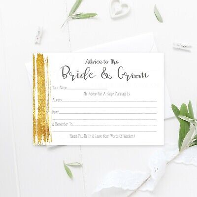 ADVICE TO THE Bride and Groom Cards Wedding Guest Book Wisdom Wishes ...