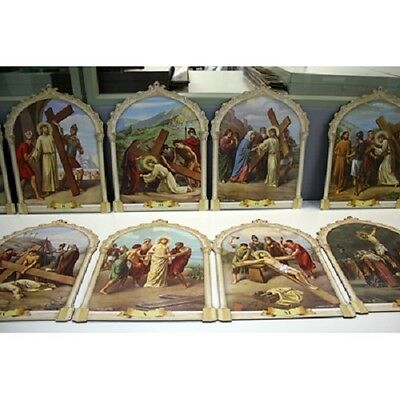 Stations Of The Cross Plaques (Entire Set) 15Pc 13X17 Pr40Via