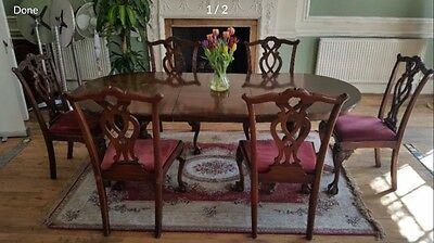 Antique Dining Table & 6 Chairs