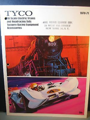 Vintage 1970-71 Tyco Ho Electric Trains & Roadracing Catalog , 26  Pages, Used