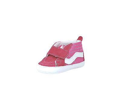 VANS NEW BORN Crib Baby Shoes Booties SK8 Hi Pink Strap Canvas Suede ... dec124fce