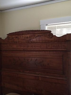 Antique Spoon Carved East Lake Full-Size Bed With All Pieces