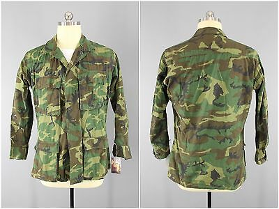 1970's Vintage Woodland ERDL Camo US Army RDF Special Forces Jacket, Small