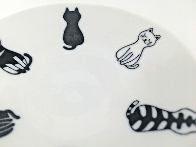 Japanese Dish Plate dinnerware Modern Cats Made in Japan