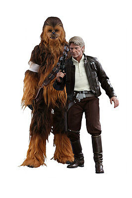 Star Wars The Force Awakens 1:6 Han Solo & Chewbacca Figure Set Hot Toys - Offic