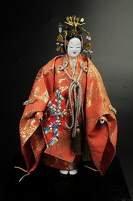 Japanese Noh Dancer Doll -Young Lady- Hagoromo Kyugetsu Nice Product